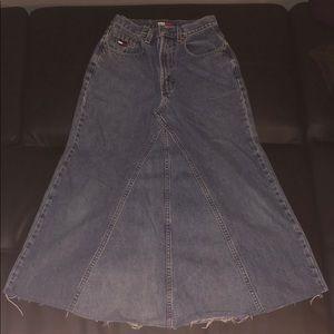 Tommy Hilfiger Long Denim Skirt